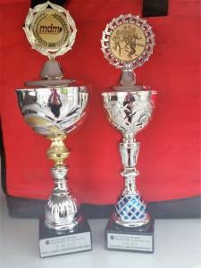 Die Pokale für den 2. und dritten Platz