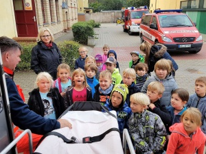 Präsentation des Rettungswagens