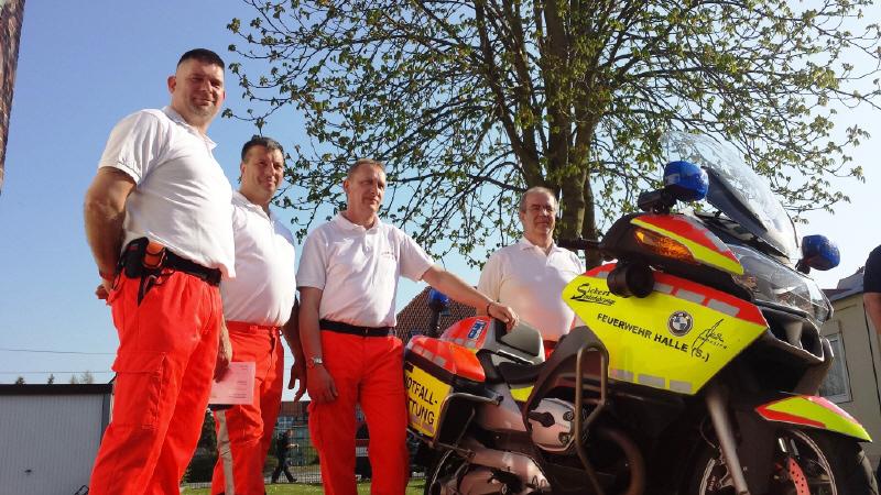 Mitglieder der neuen Motorradstaffel